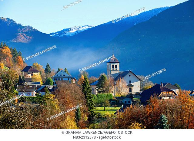 A view of the small village of Marthod in the Savoie region of the French Alps