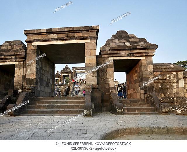 The main gate of Ratu Boko Palace compound. Special Region of Yogyakarta, Java, Indonesia
