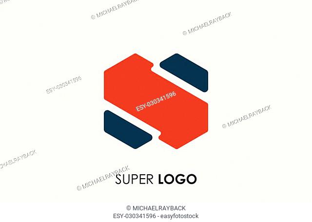 Abstract logo. Minimalistic logo design. Creative logo. Beautiful and simple element. Super logo. S logo design