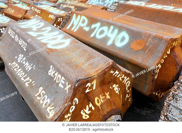Steel ingots melted, Iron Industry, Bizkaia, Basque Country, Spain