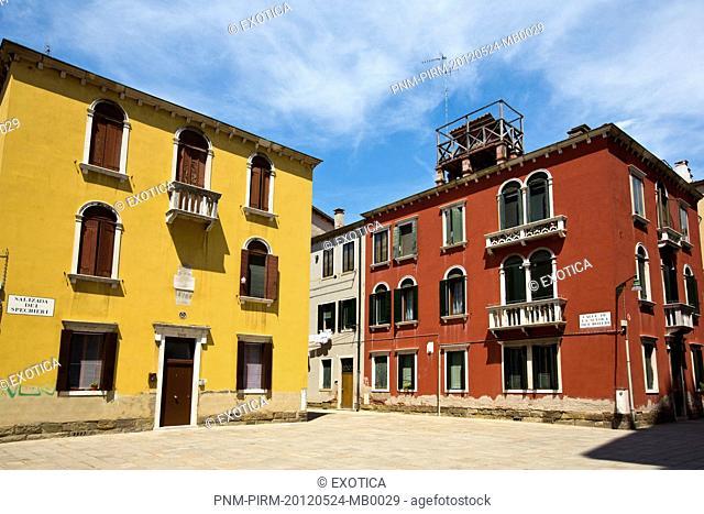 Facade of buildings, Murano, Venice, Veneto, Italy