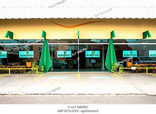 Facade, Agrofito company, municipality, Matão, São Paulo, Brazil