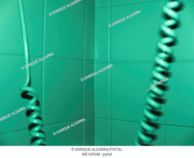 Bathroom phone wire