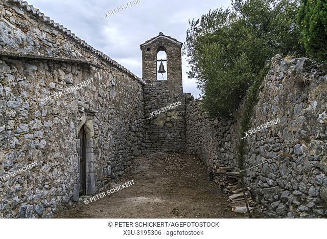 abandoned church, Castle of Himara or Old Himara ruins, Albania, Europe