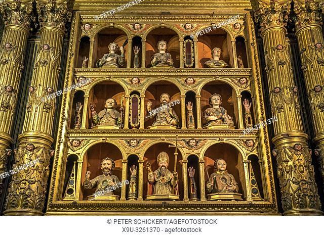 Chapel of the Eleven Thousand Virgins., Saint John the Evangelist Church Igreja do Colégio, Funchal, Madeira, Portugal, Europe