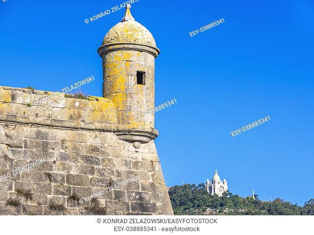 Santiago da Barra Fortress, located in port of Viana do Castelo in Norte region of Portugal