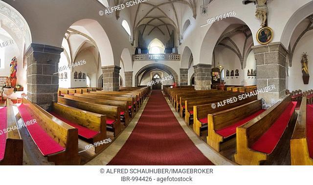 Interior view of the parish church in Zwettl, Waldviertel or Forest Quarter, Lower Austria, Europe