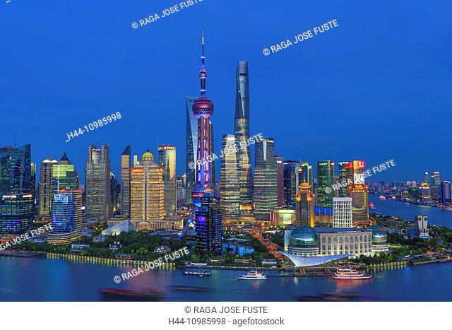 Shanghai City Skyline by night