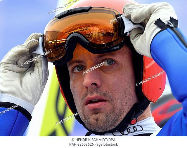 German athlete Björn Kircheisen prepares to compete in the men's 10 kilometre combination event at the Nordic Ski World Championship in Lahti, Finland