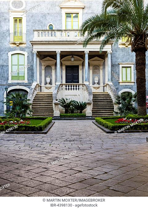 University, courtyard, Province of Catania, Province of Catania, Sicily, Italy