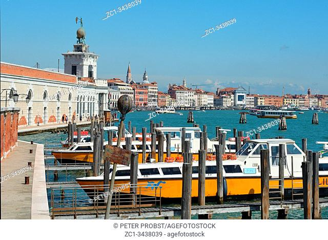 Punta della Dogana in the Dorsoduro district with a view over the Grand Canal on San Marco in Venice - Italy