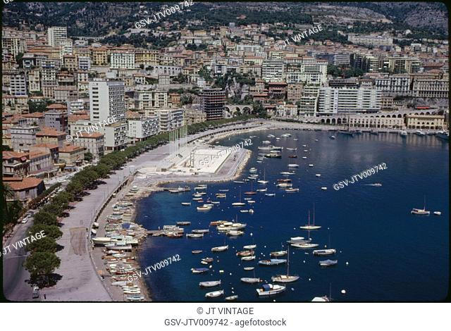 Cityscape and Harbor, Monaco, 1961
