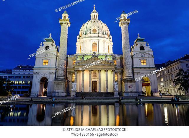 Karlskirche, Karlsplatz, Vienna, Austria, Europe