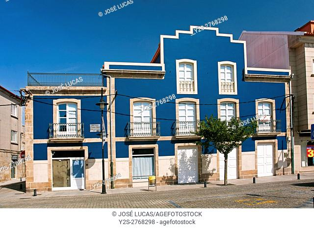Birthplace of the galician sculptor Francisco Asorey, Cambados, Pontevedra province, Region of Galicia, Spain, Europe