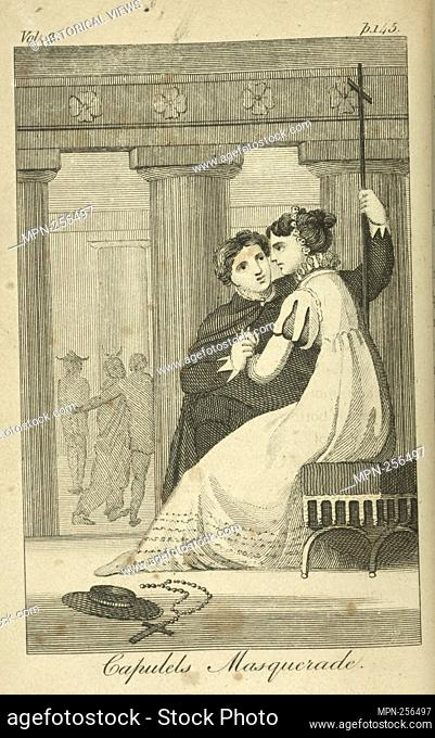 Capulets' masquerade. Additional title: Romeo and Juliet. M.J. Godwin & Co. (Publisher) Lamb, Charles, 1775-1834 (Author) Lamb, Mary