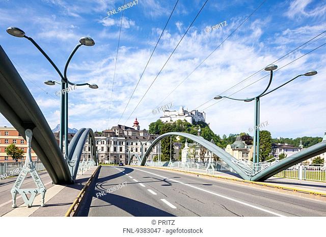 Nonntal Bridge in Salzburg, Austria