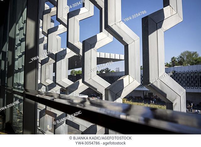 National Museum of Anthropology, Architectural detail, Museo Nacional de Antropología, MNA, Mexico City, Mexico