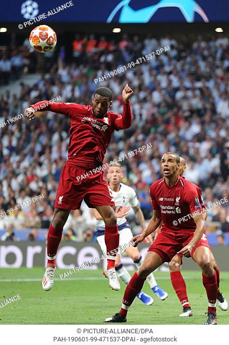 01 June 2019, Spain, Madrid: Soccer: Champions League, Final Tottenham Hotspur - FC Liverpool at Wanda Metropolitano Stadium