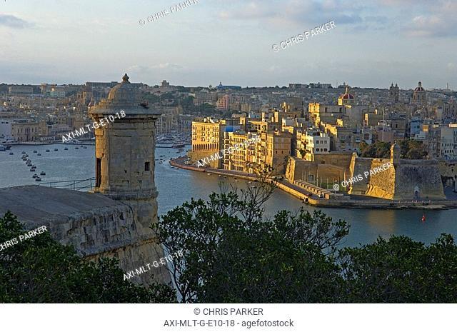 Senglea as seen from Valletta, Malta