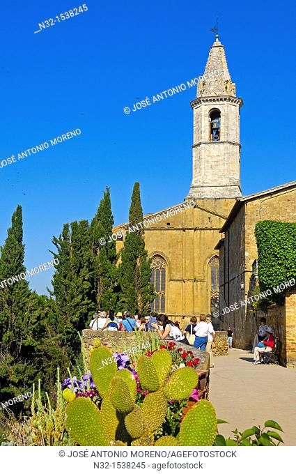 Cathedral, Pienza, Val d'Orcia, Siena Province, Tuscany, Italy