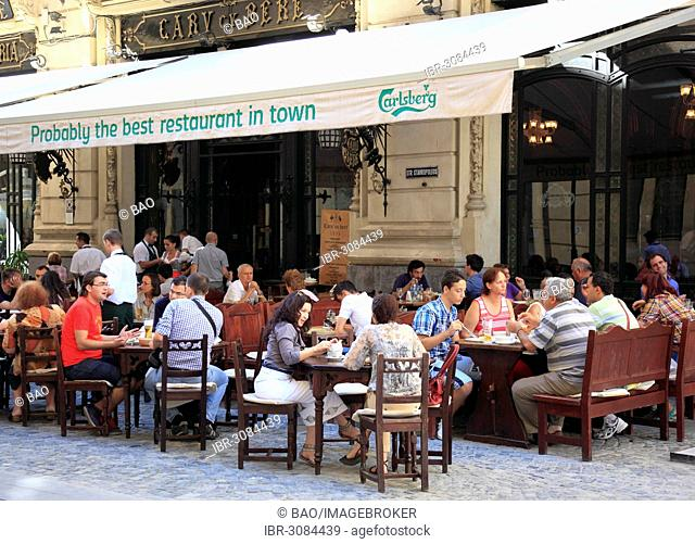 Carul cu Bere, beer wagons restaurant, in the Strada Lipscani street in the old commercial district, Bucharest, Bucure?ti, Romania