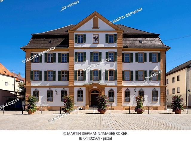 Ständehaus on the market square, municipal building, Ehingen, Swabian Jura, Upper Swabia, Swabia, Baden-Württemberg, Germany