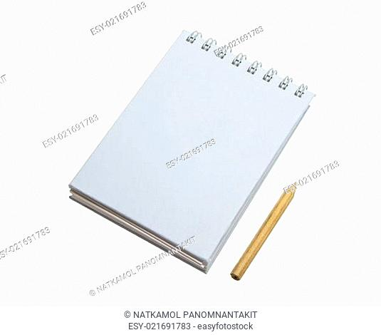 Spiral note pad and pencil