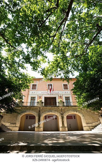 Town Hall building, Fontaine-de-Vaucluse, Vaucluse, 84, Provence-Alpes-Côte d'Azur, France, Europe