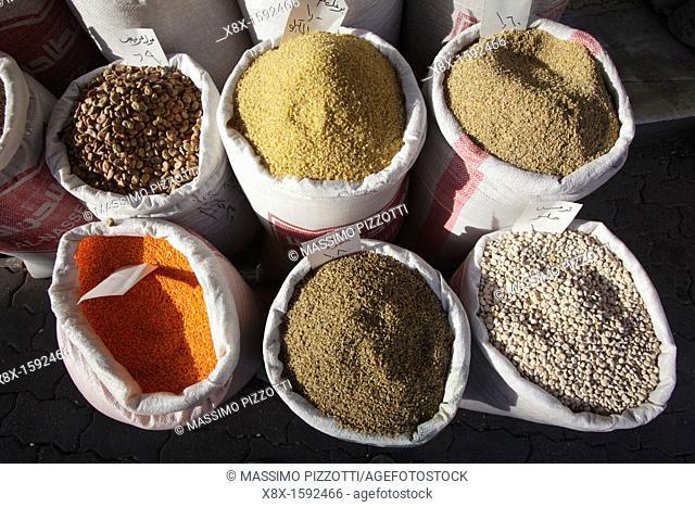 Spices at the souk, Amman, Jordan