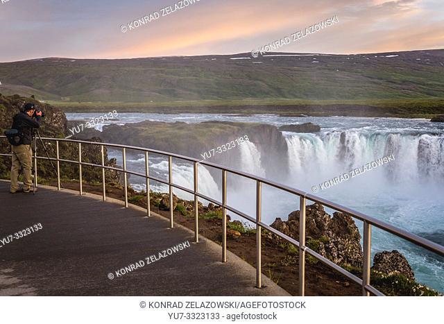 Godafoss - Waterfall of the gods on the Skjalfandafljot River in Northeastern Region of Iceland