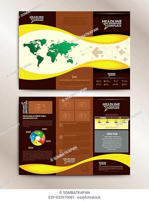 Vector Brochure Layout Design Template. Vector illustration