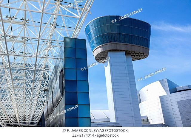 The control tower at the Air and Space Museum