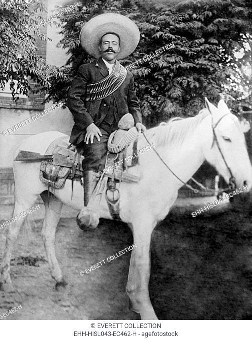 Francisco Pancho Villa, Commander of northern Mexican Revolutionary forces, on horseback. C. 1910-1916 (BSLOC-2016-13-81.jpg )