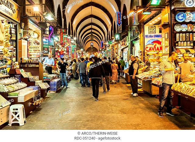 Grand bazaar, covered alleys, Istanbul, Turkey