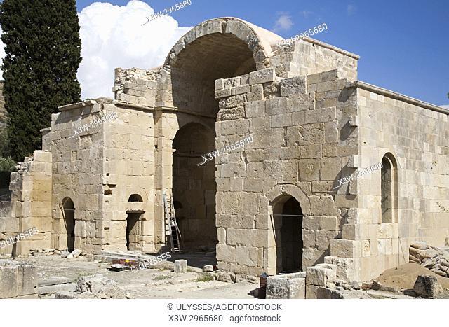 Basilica of Agios Titos, Archaeological site of Gortyna, Crete island, Greece, Europe