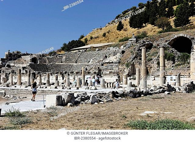 Market Basilica and Odeon of Ephesus, Ephesos, Efes, Izmir, Turkish Aegean, western Turkey, Turkey, Asia