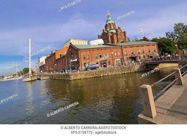 Uspenski Orthodox Cathedral, North harbour, Helsinki, Finland, Europe