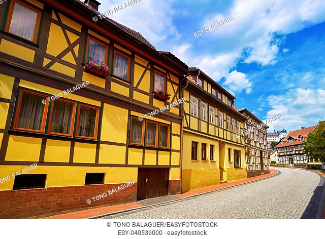 Stolberg facades in Harz mountains of Germany