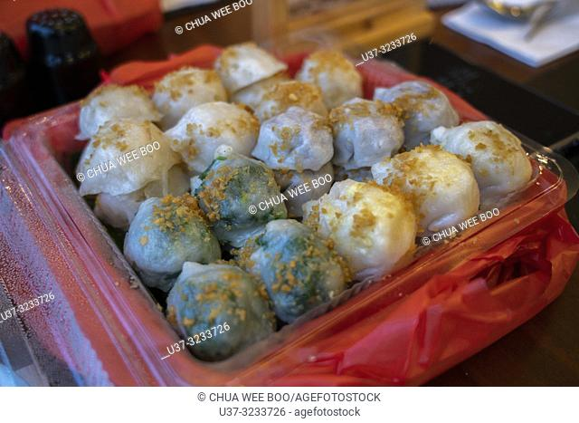 Indonesian Hakka vegetable dumplings in package, Pontinak, West Kalimantan, Indonesia