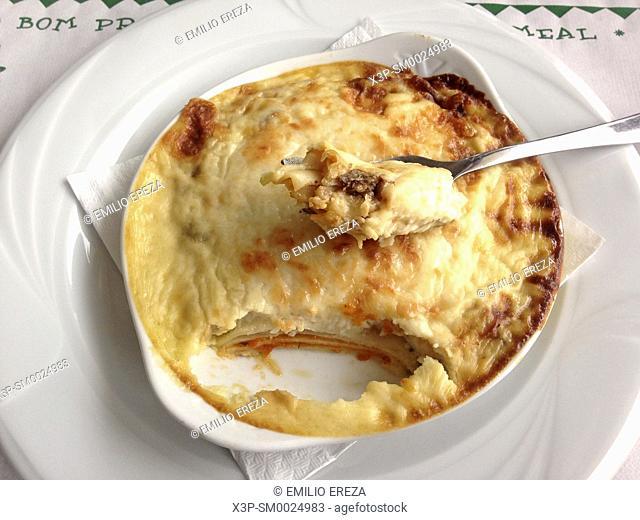 Lasagna of meat