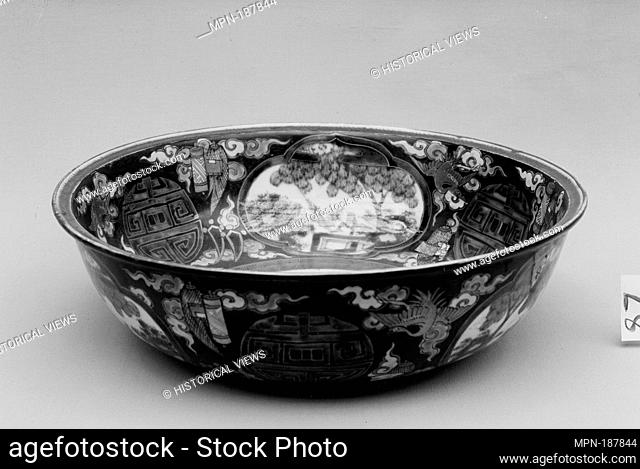 Bowl. Period: Edo period (1615-1868); Date: ca. 1780; Culture: Japan; Medium: White porcelain decorated with blue under the glaze