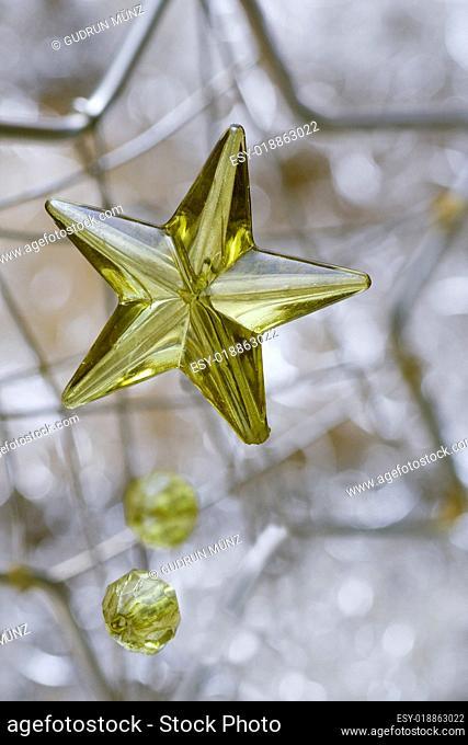 Gold star close-up