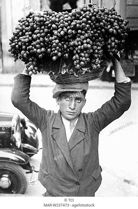 italy, grape harvest, 1930-40