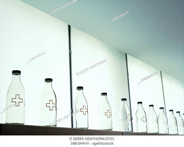 Bottles with Crosses - Object Art