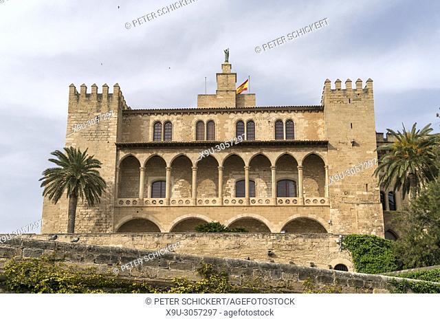The Royal Palace of La Almudaina, Palma de Mallorca, Majorca, Balearic Islands, Spain,