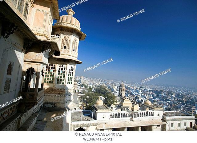 City Palace. Udaipur. Rajasthan. India
