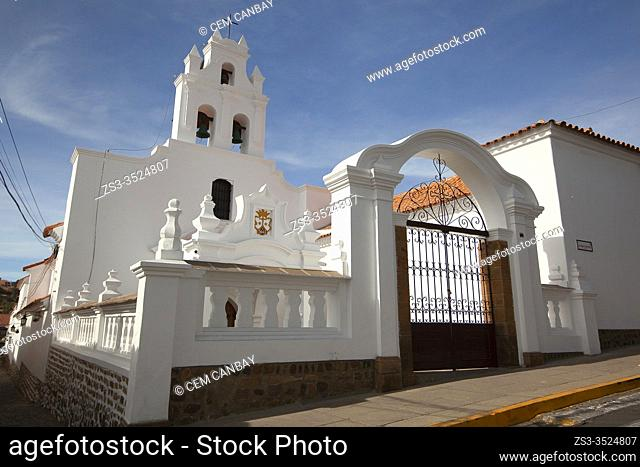 View to the Convento Santa Teresa MM Carmelitas Monastery at the historic center, Sucre, Chuquisaca Department, South America