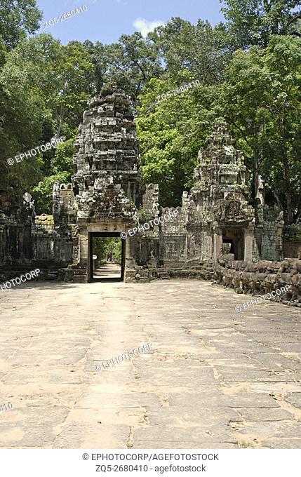 Cambodia, Bayon Gateway