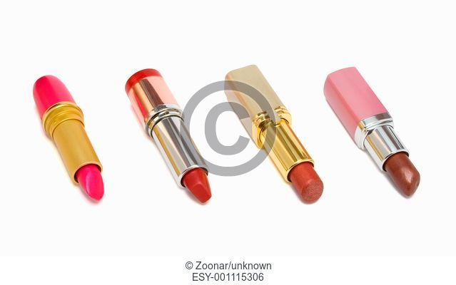 Four multicolored lipstick
