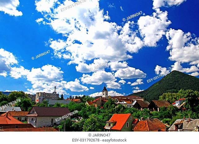 Small town Ruzomberok in Slovakia